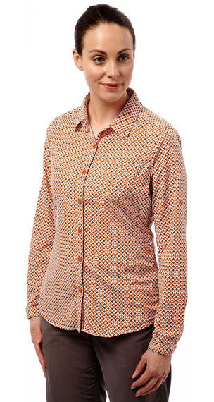 Craghoppers Nosilife Olivie - Camisas de manga larga Mujer - naranja
